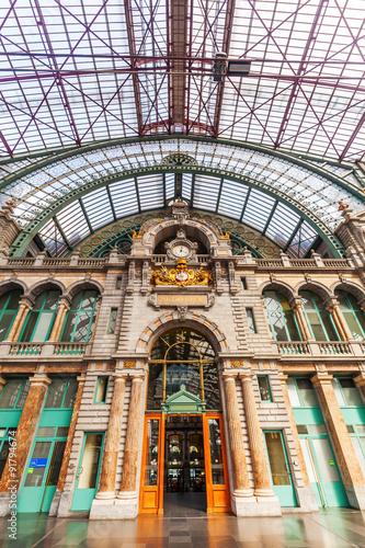 historischer Bahnhof von Antwerpen, Belgien