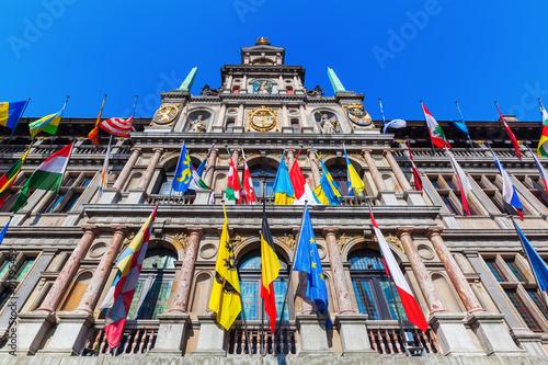 Papiers peints Antwerp historisches Rathaus in der Altstadt von Antwerpen, Belgien