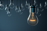 Glowing Hanging Light Bulb