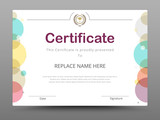 Fototapety Certificate, Diploma of completion, Certificate of Achievement design template. Vector illustration