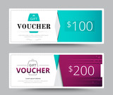 Gift voucher card template design. for special time, Coupon temp