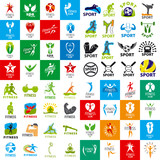 Fototapety large set of vector logos of sports and fitness