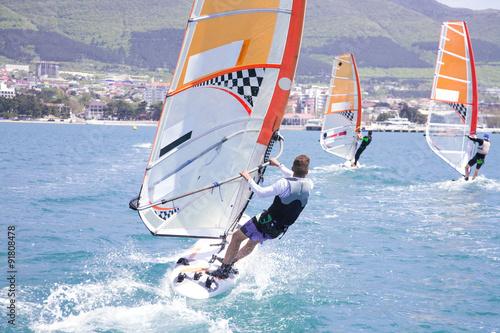fototapeta na ścianę race on windsurfing