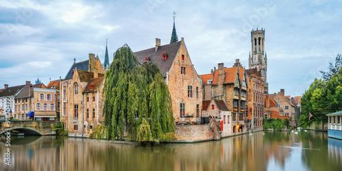 Fotobehang Brugge Brugge canals at sunrise