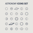 Astronomy Icons Set - 91825485