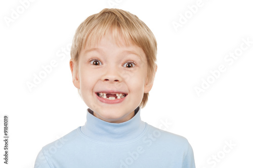 Poster Portrait of a toothless boy