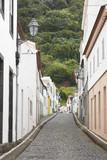 Fototapety Traditional azores street with paved floor in Pico island. Portu