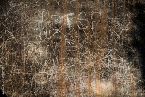 Graffiti on Kumbhalgarh fort wall, India Poster