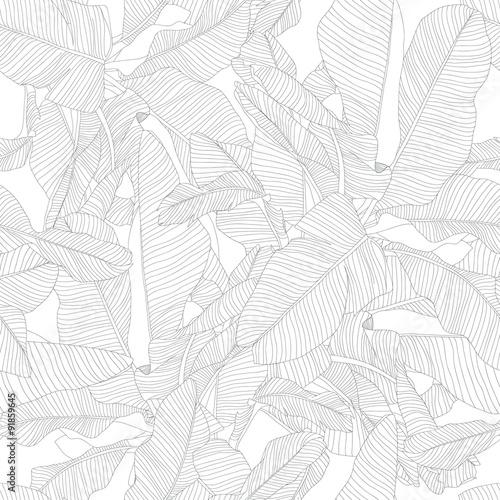 tropikalny wzór liści palmowych, modny wzór tkaniny