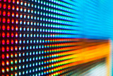 Blue, red and yellow colored LED smd screen