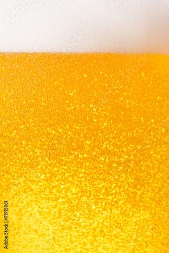 Poster ビールのクローズアップ