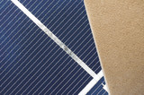 compressed thermal insulating hemp fiber panel on a photovoltaic cell background