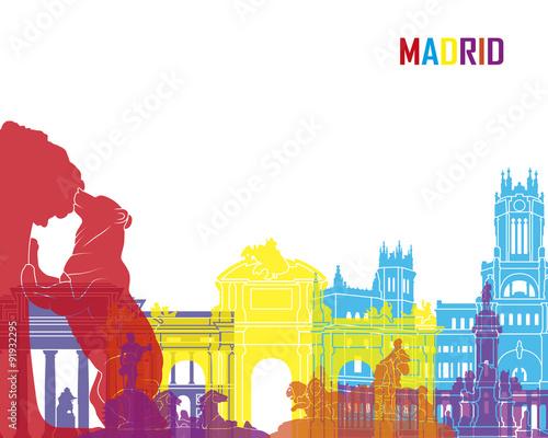 Zdjęcia na płótnie, fototapety, obrazy : Madrid skyline pop