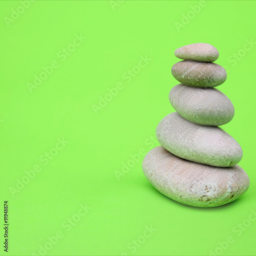 canvas print picture Pyramid of stones