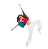 hip-hop dancer woman dancing happy