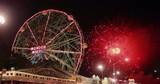 New York City Coney Island amusement park fireworks