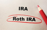 Roth IRA red circle poster