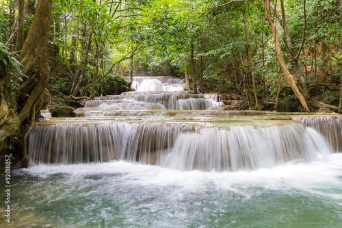 Fototapeta limestone waterfalls, Huay mae khamin