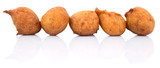 Popular Malaysian fritter snack deep fried banana balls or locally known as Cekodok Pisang poster