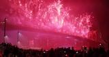 July 4th Fireworks in New York City Brooklyn Bridge