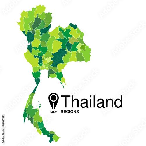 Regions map of Thailand. Thailand | Buy Photos | AP Images | DetailView