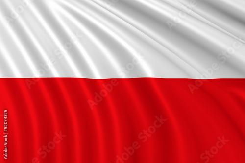 Obraz na płótnie Flag of Poland
