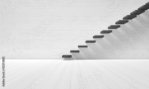 Poster emty room with stairs