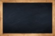 little blackboard with wooden bamboo frame