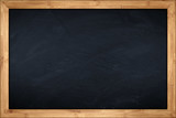 little blackboard with wooden bamboo frame - 92079204