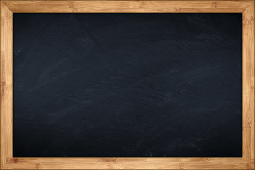 little blackboard with wooden bamboo frame © stockphoto-graf