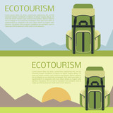Ecotourism banner  poster