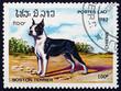 Postage stamp Laos 1982 Boston Terier, Dog