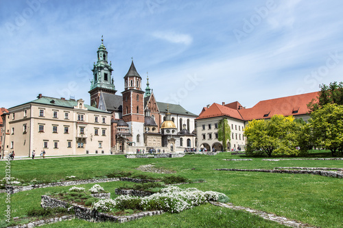 Wawel courtyard. Poster