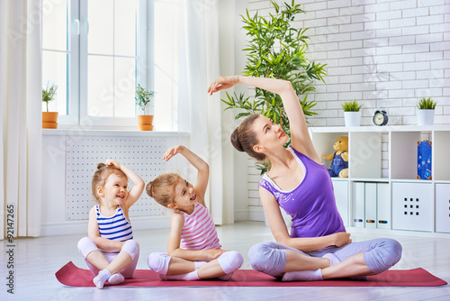 Sticker practice yoga