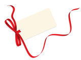 VECTOR CHRISTMAS GIFT CARD WITH RIBBON