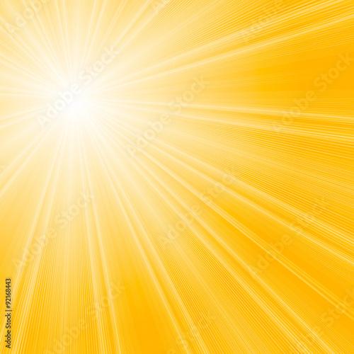 Vector sunburst summer background.
