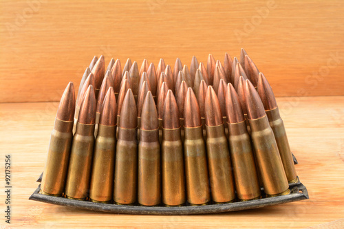 Poster Clips  of 7.62x39 caliber ammunition