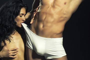 Sexy undressed couple