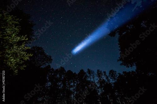 Comet in night sky