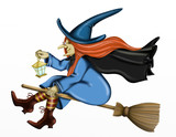 bad witch on broom