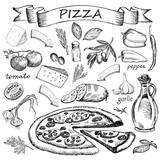 Fototapety pizza ingredient