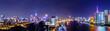 Quadro night scene of the city and a river