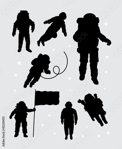 cosmonaut space suit silhouette - photo #9