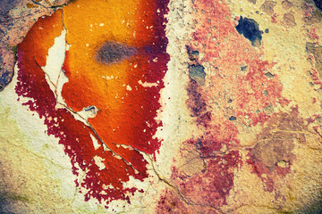 Grunge wall with peeling paint,great background or  texture