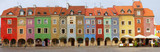 Fototapety crooked medieval houses , Poznan, Poland
