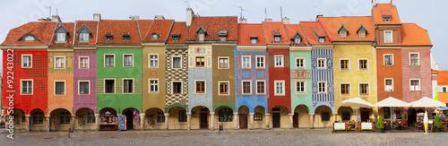 obraz PCV crooked medieval houses , Poznan, Poland