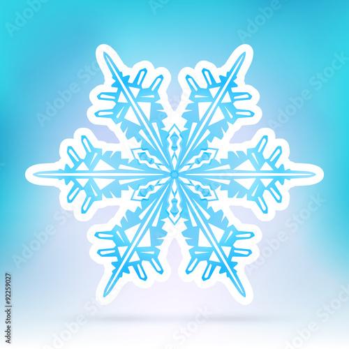 """Abstract Snowflake Symbol with Ice Blue Background Gradient"" Stok Gorseller ve Telifsiz vektor dosyalar? Fotolia.com 'da - Resi"