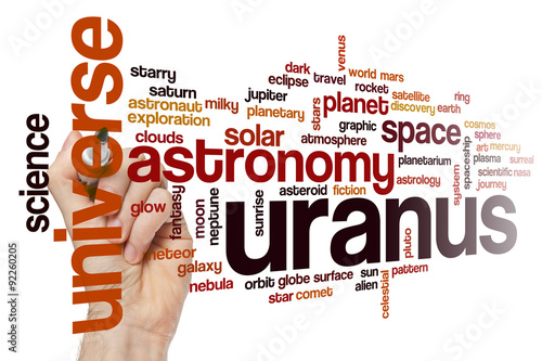 Plakat Uranus word cloud concept
