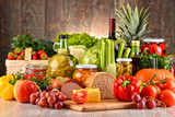 Composition with variety of organic food - Fine Art prints