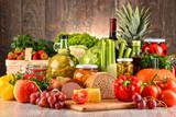 Skład z różnorodnością żywności ekologicznej